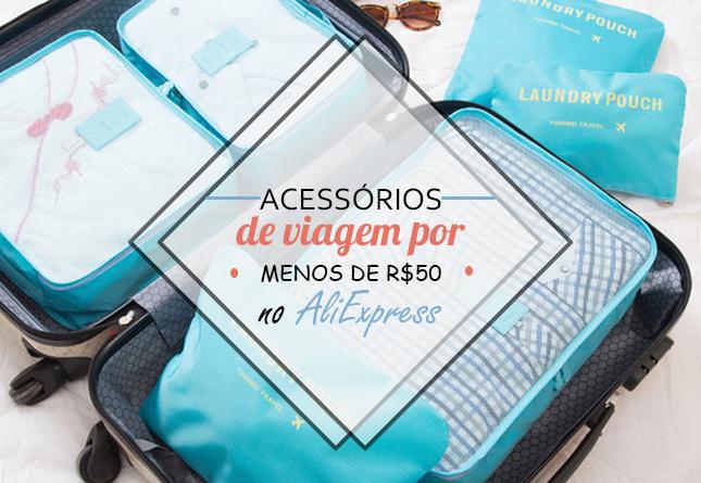 20 acessórios de viagem por menos de R$50 no AliExpress