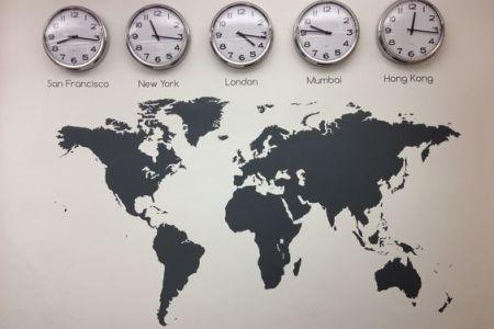 Ideias de decoração de viagem - Mapa mundi