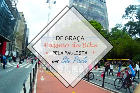 Passeio de Bike de graça na Avenida Paulista em São Paulo