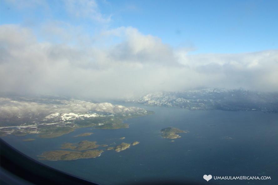 Dicas de viagem para quem vai ao Ushuaia - vista do avião