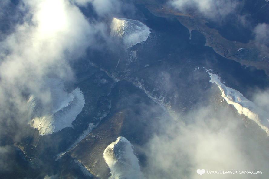 Dicas de viagem para quem vai ao Ushuaia - vista do avião 3