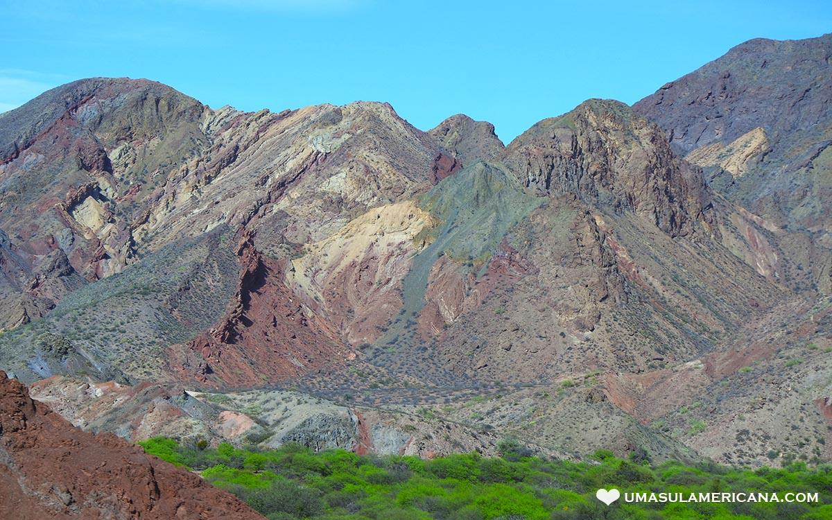 Montanhas Coloridas da América do Sul - Quebrada de las Conchas - Cafayate
