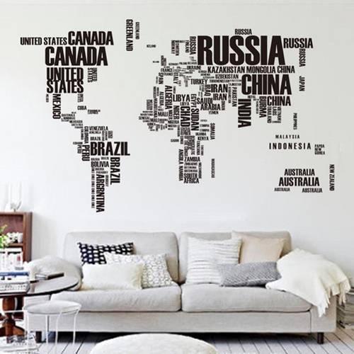 Papel de Parede de mapa letras pra comprar pela internet - Decoração de Viagem