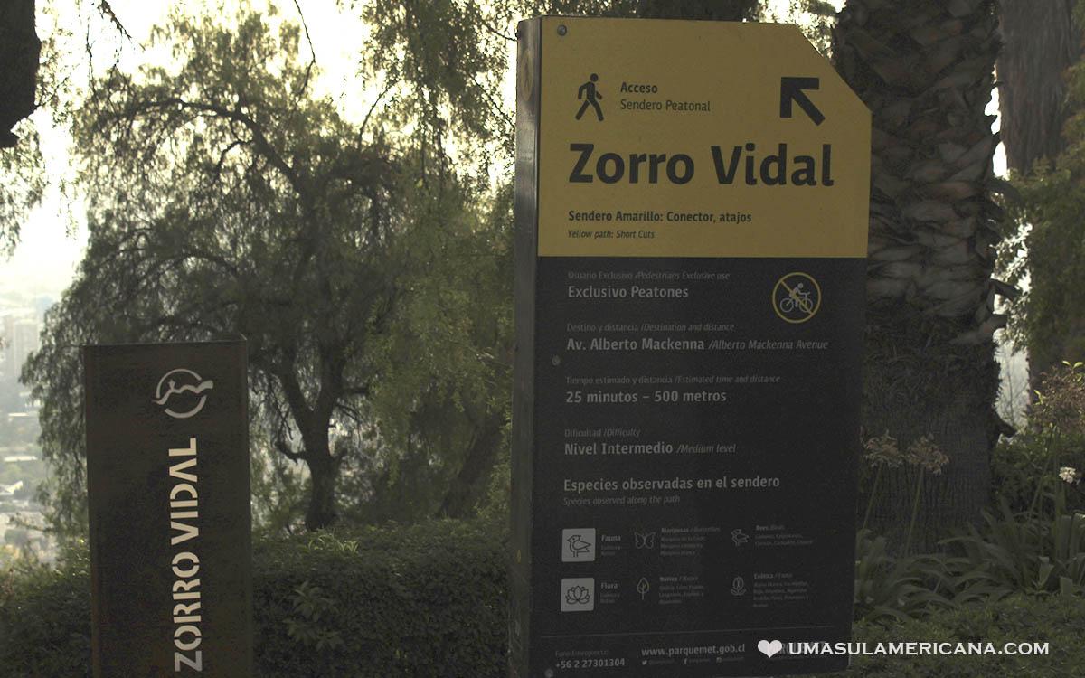 Cerro San Cristóbal em Santiago do Chile - Zorro Vidal