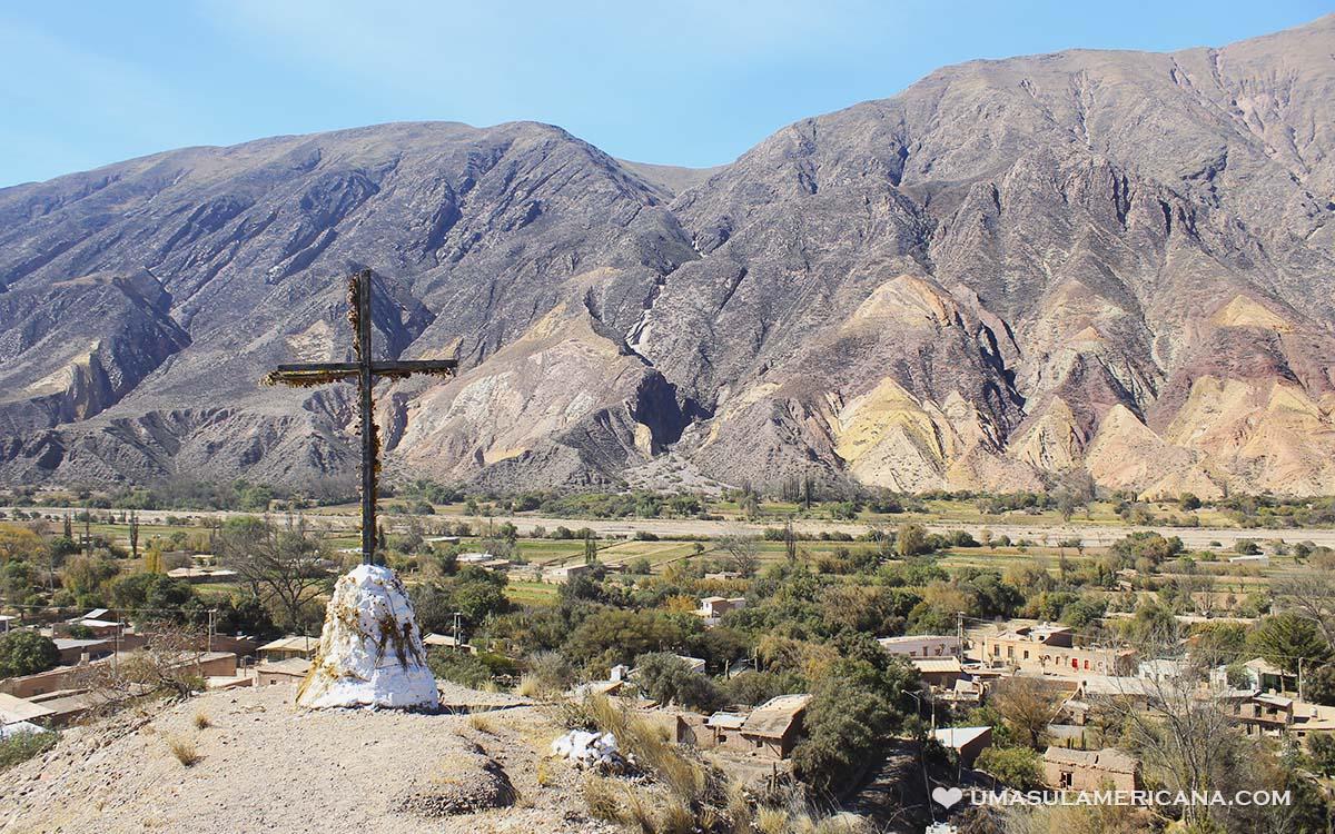 Montanha colorida de Maimará - Las Paletas del Pintor, Ticara - Jujuy, norte da Argentina