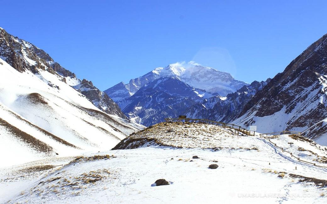 Cerro Aconcágua, a mais alta montanha da América do Sul, em Mendoza, Argentina