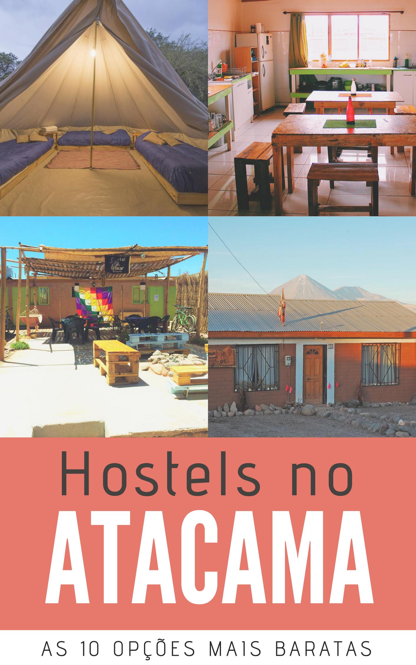 Hostels no Atacama - Veja os 10 hostels mais baratos em San Pedro do Atacama, no Norte do Chile, além de dicas para escolher a melhor hospedagem no deserto