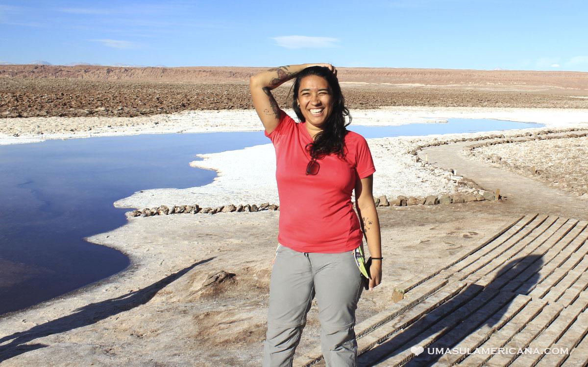 Mulher viagem Atacama - Lagunas Escondidas de Baltinache