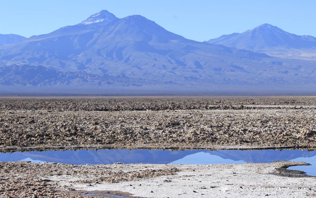 Salar do Atacama, no passeio das Lagunas Altiplânicas - Deserto do Atacama