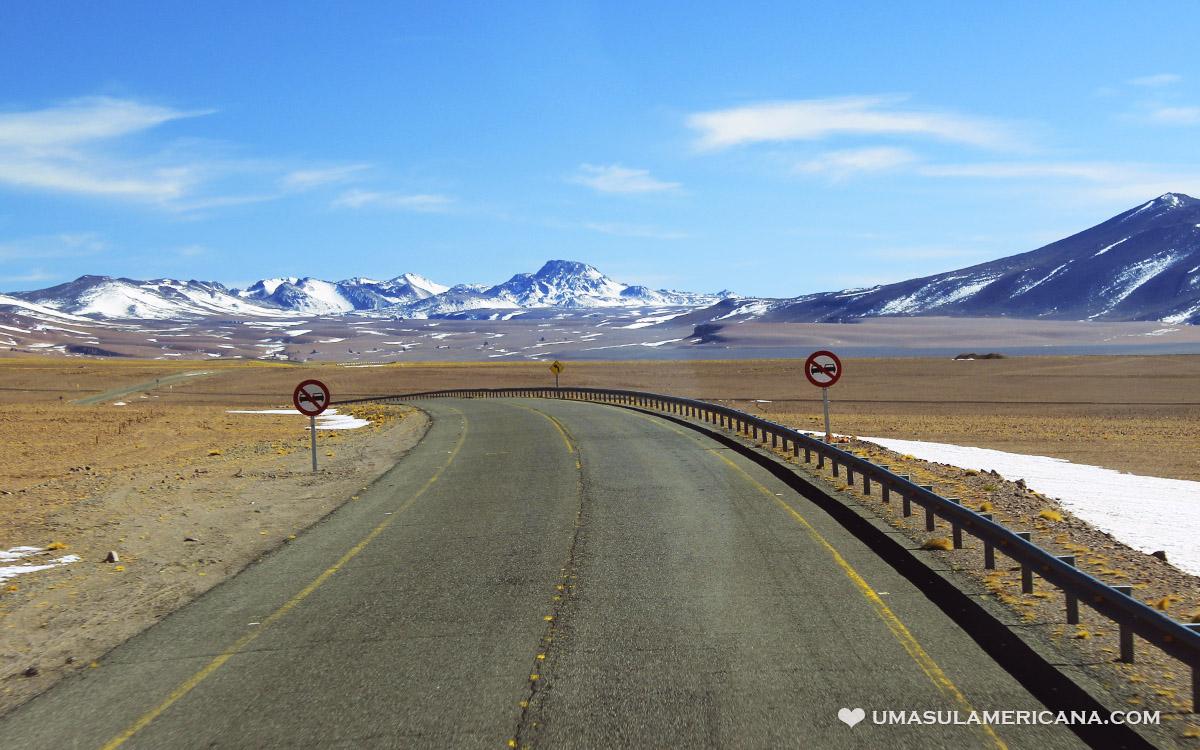 Paso Jama, passo fronteiriço entre Salta e Atacama, no Norte da Argentina e Chile