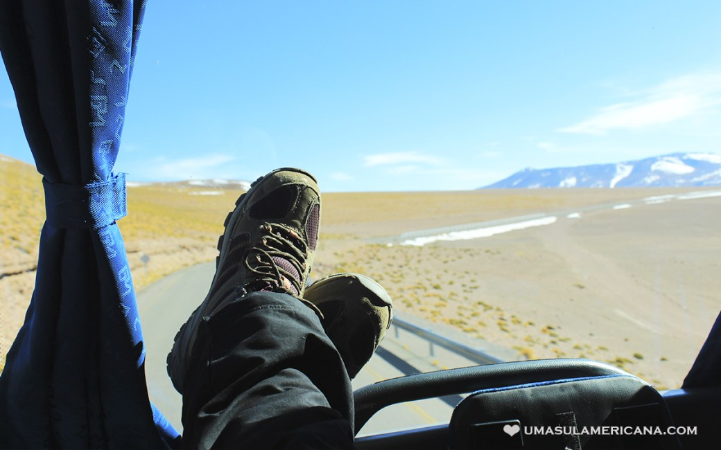 Viajando de ônibus entre Argentina e Chile - Paso Jama