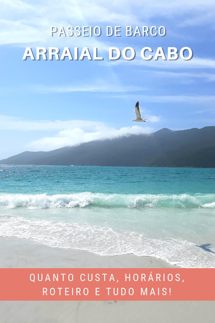 Passeio de barco em Arraial do Cabo, no Rio de Janeiro.