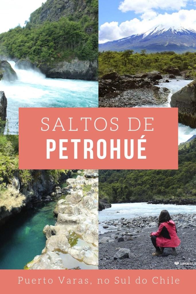 Saltos de Petrohué, cachoeiras azuis perto de Puerto Varas, na região dos Lagos Andinos, no Sul do Chile