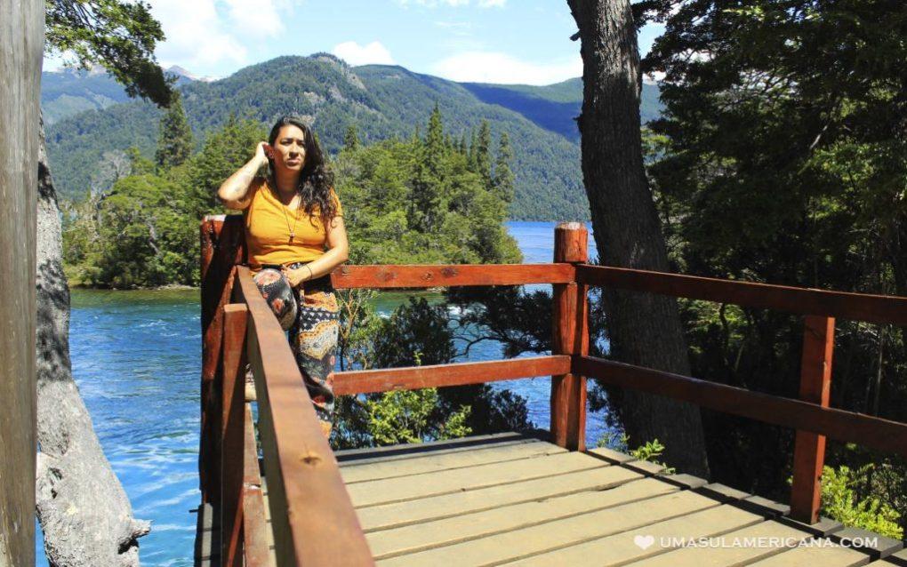 Lago Verde no Parque Los Alerces, no Norte da Patagônia argentina - Esquel