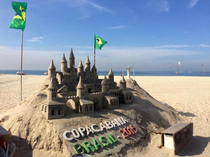 escultura de areia Rio de Janeiro
