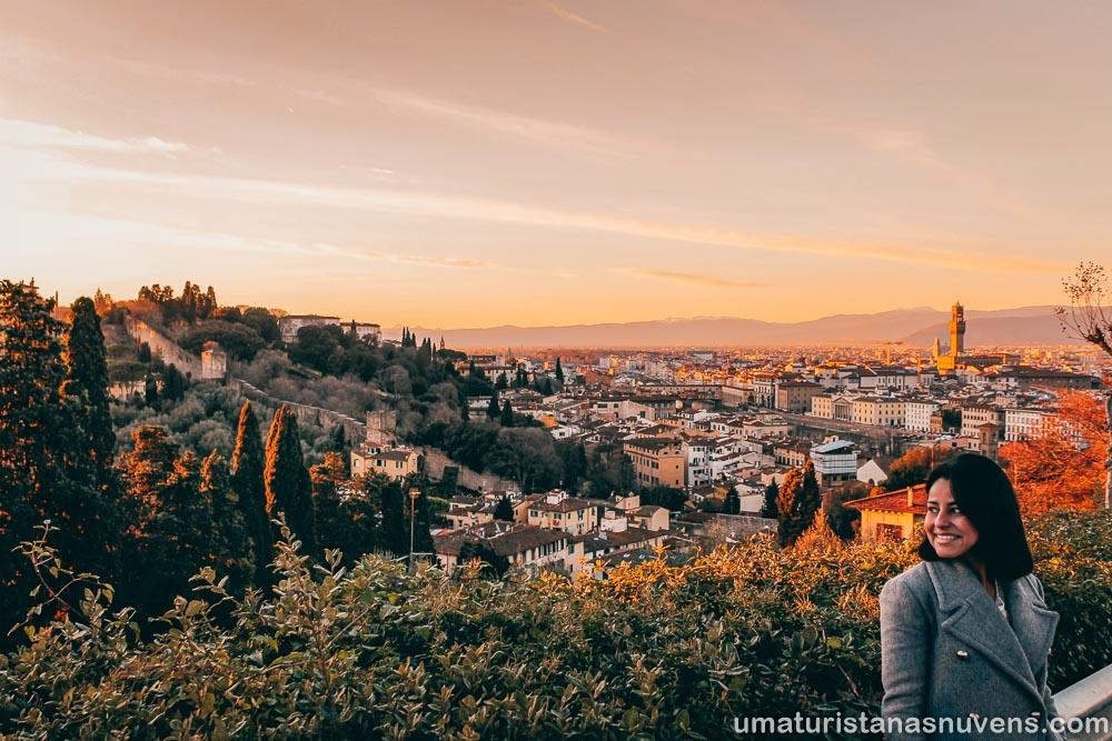 Vista panorâmica na Praça Michelangelo em Florença