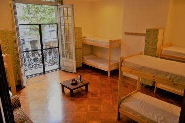 onde ficar em Buenos Aires - Malala Hostel quarto