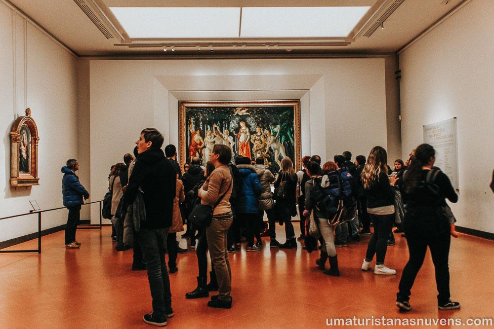 """Pintura """"A Primavera"""" na Galeria Uffizi"""
