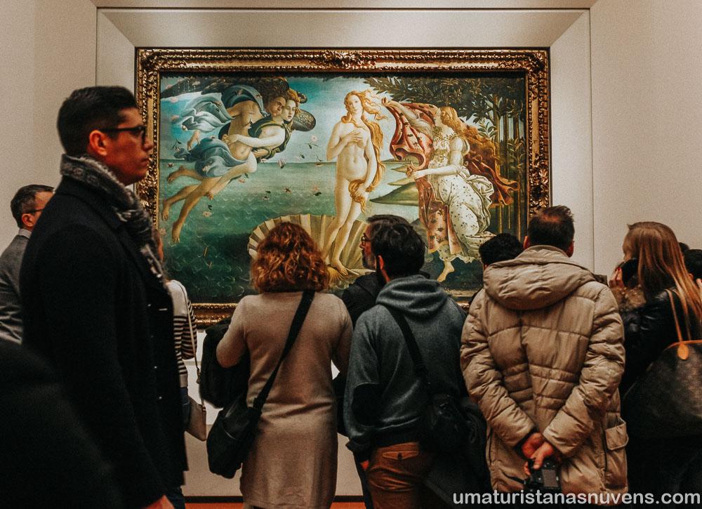 "Pintura ""O Nascimento de Vênus"" na Galeria Uffizi"