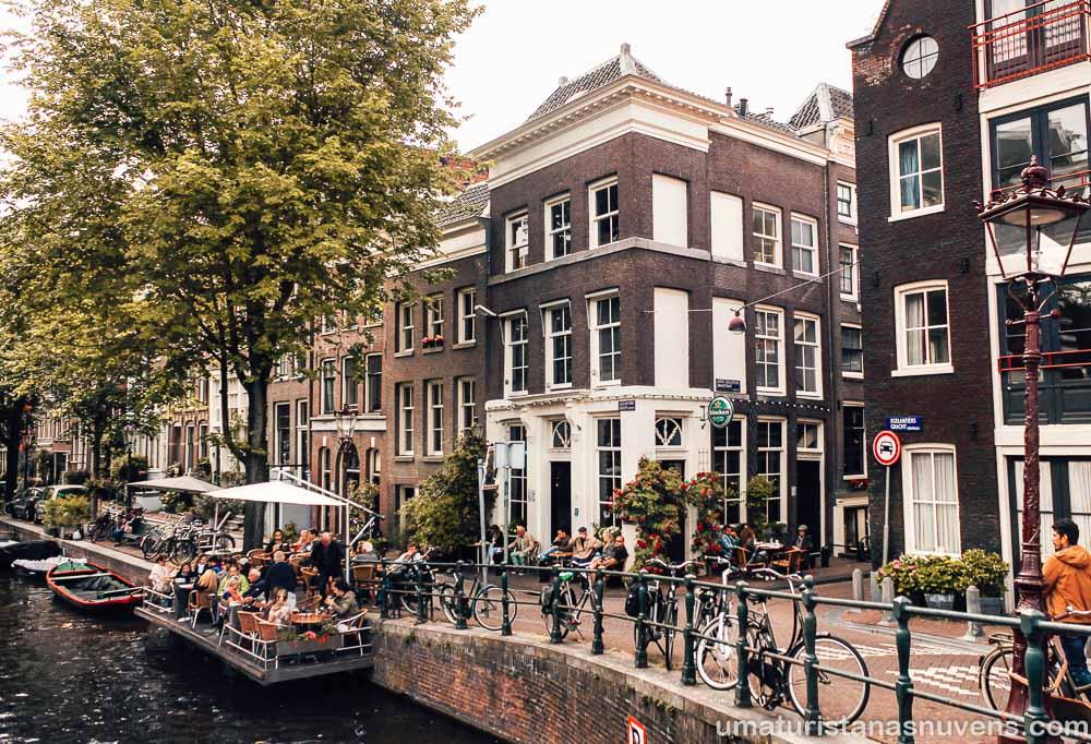 Cafe 't Smalle no bairro Jordaan em Amsterdam