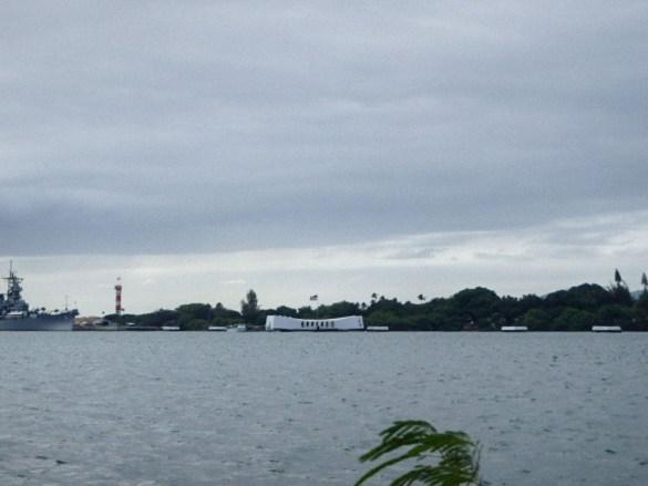 Pearl Harbor no Havaí na Ilha de Oahu