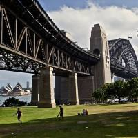 view under sydney harbour bridge