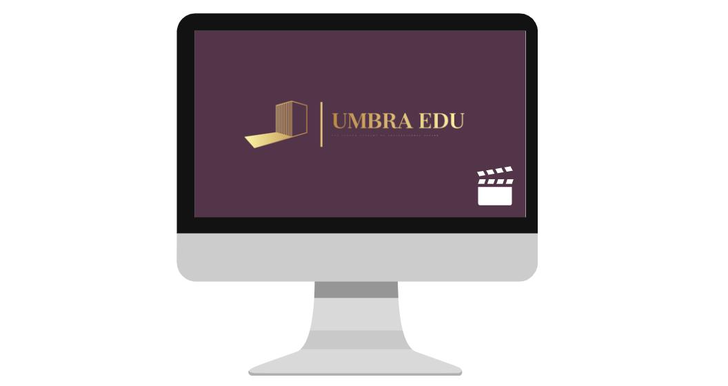 Computer screen with Umbra Edu Logo