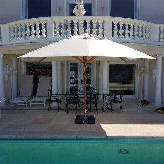 Bambrella Levante Rectangle Bamboo Umbrella