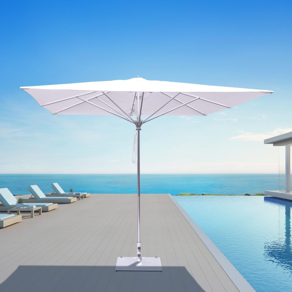 Galtech 792 10′ Square Deluxe Commercial Market Umbrella