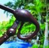 Galtech | 887 11' round Cantilever Market Umbrella easy lify
