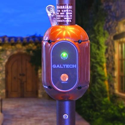 Housing on Galtech | 936 9′ Round Deluxe Auto Tilt Umbrella LED Lighted