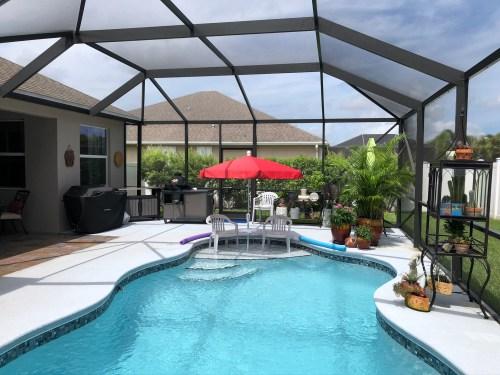 Fiberbuilt umbrella for pools