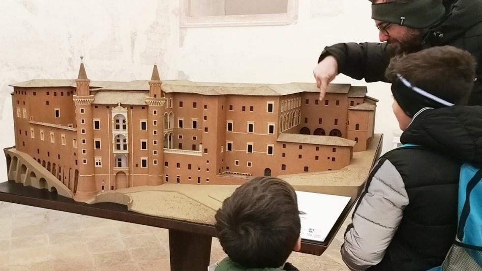 plastico Palazzo Ducale, Urbino