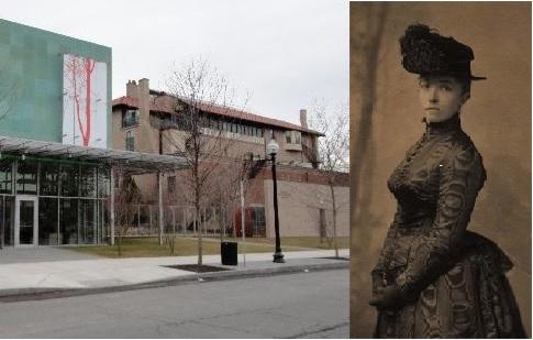 Isabella Stewart Gardner e, a sin., il museo da lei fondato