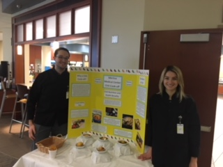 Presenting the work behind the Chili Cook-Off theme meal at Meritus Medical Center