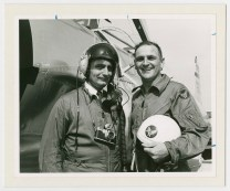 """Alfred """"Al"""" Danegger (left), and a member of the U.S. Air Force. Danegger was a combat photographer during World War II."""