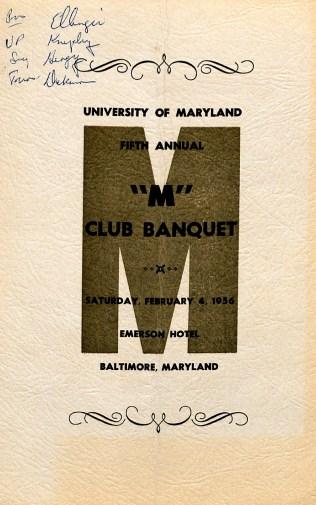 M Club Banquet Program 1956