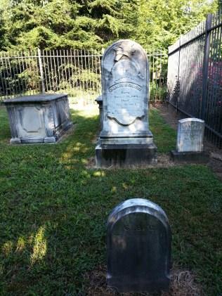 Charles Benedict Calvert's headstone and footstone