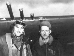 Bill Guckeyson (left) during World War II. Photo Credit: Wikipedia