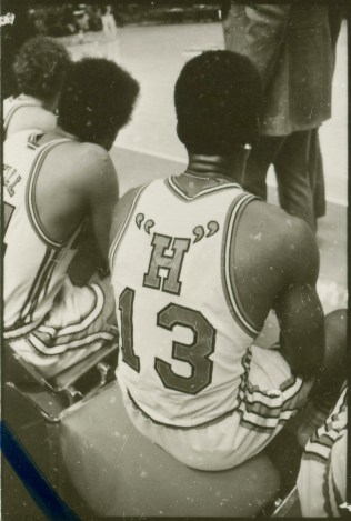 """Only a single """"H"""" on the back of Howard White's uniform"""