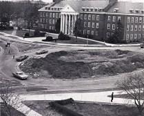 M circle under construction, 1970