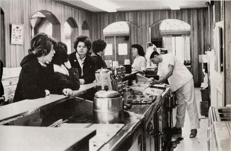 Scooping ice cream at the Diary in 1964.