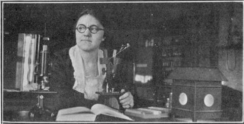 Elizabeth Hook in Entomology lab.