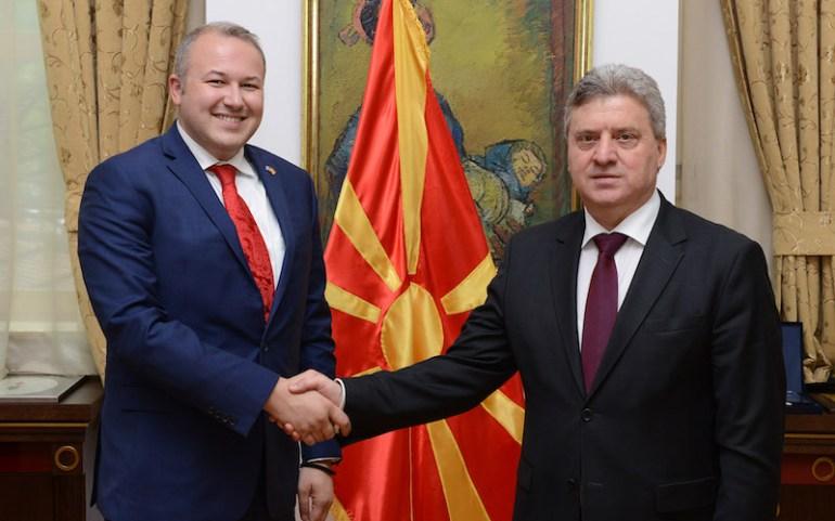 Претседателот на ОМД на Средба со Претседателот и Првата Дама на Република Македонија