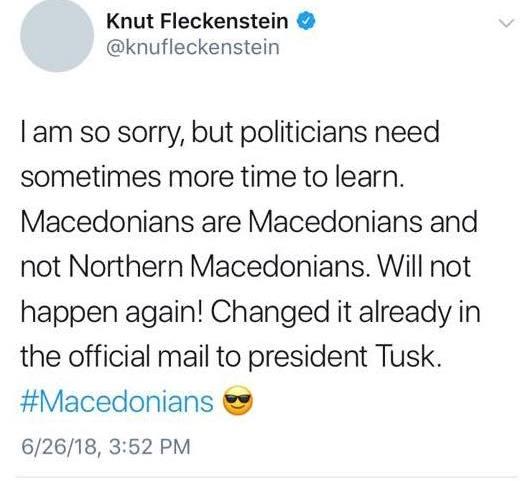 Македонците се Македонци, не Северномакедонци