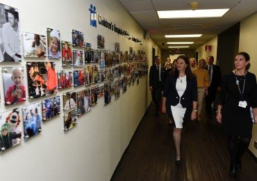 Macedonia's First Lady Visits Michigan Children's Hospital, Honored at Luncheon