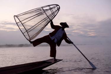 Lieber posieren als fischen