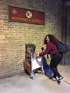Alexis at Platform Nine and Three Quarters