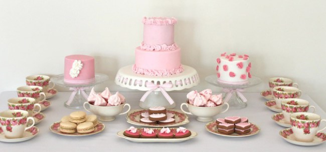 Ruffle Dessert Table