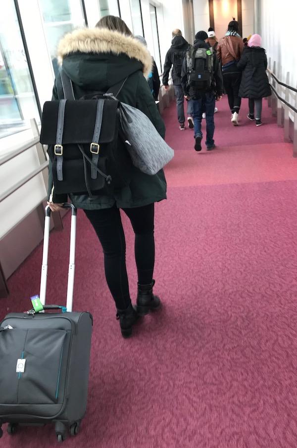 Fiquei 18 dias no Japão e essa era toda a minha bagagem.